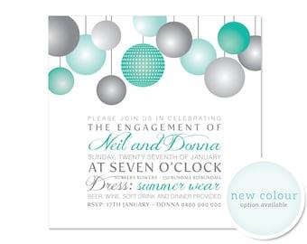 Printable Engagement Invitation - Light of My Life