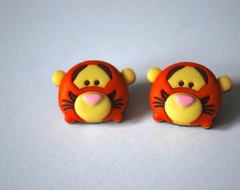 Tigger Earrings -- Baby Tigger Studs, Winnie the Pooh, Disney
