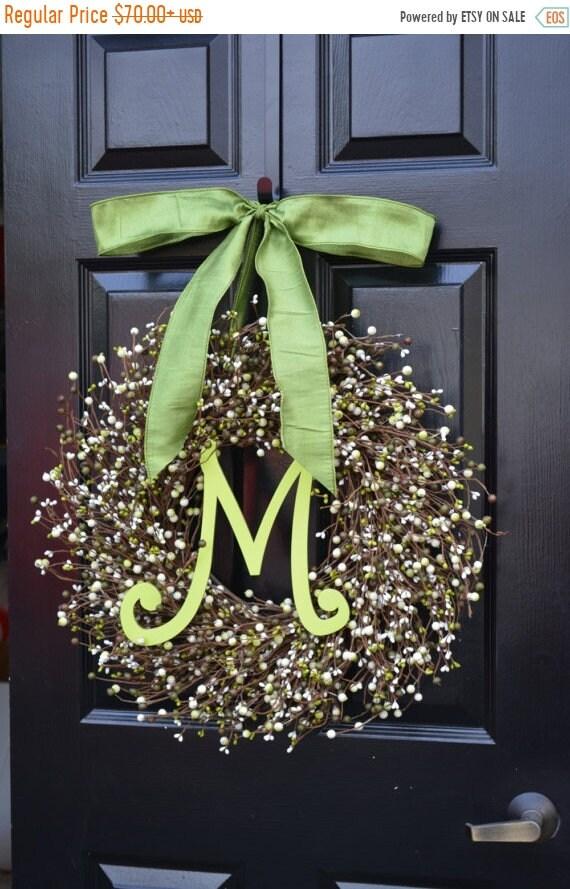 SPRING WREATH SALE Spring Berry Wreath, Spring Decorations, St Patricks Day Wreath, Pastel Wreath, Spring Wreath, Easter Decorations, Front