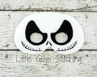 Jack Inspired Mask - Skeleton - Nightmare Before Christmas Inspired - Felt Mask - Halloween Mask -  Kids Costume - Halloween Costume -