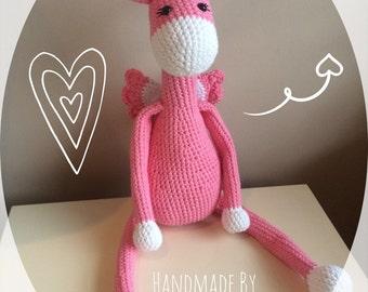Crochet Amigurumi Fairy Giraffe, plushie toy, handmade crochet, amigurumi toy