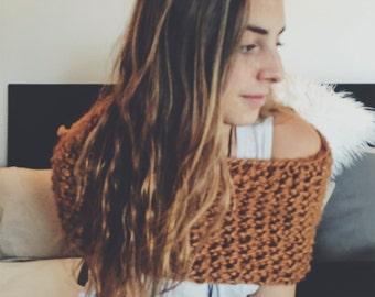 Caramel Knit Cowl