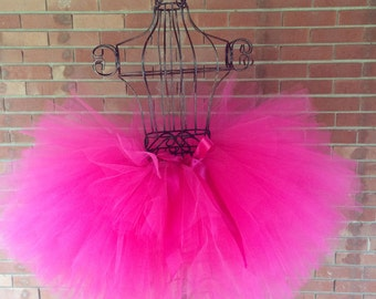 """Fuchsia Adult Tutu for waist 35"""" up to 45"""" great for Halloween, Birthdays, Dance and Bachelorette parties"""