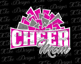 Cheer Mom -  Cheer SVG File - Vector Design Download - Cut File