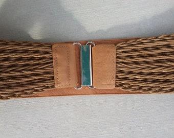 Women's  Woven Elastic Waist Belt