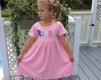 Personalized Girls Birthday Dress- Back to School Dress- 1st Birthday Dress- School Outfit- 1st Day of Kindergarten- Holiday-YOU DESIGN