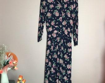 Long sleeve floral romantic dress 14