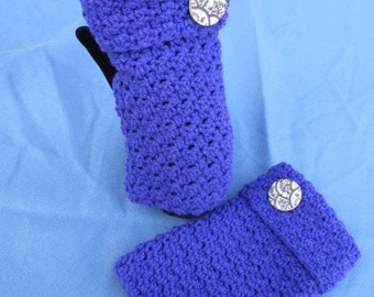 Crochet Arm Warmer Fingerless  Mitts In Textured Stitch