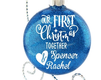 Our First Christmas Together - Couples Ornament - Ornament - Boyfriend and Girlfriend Ornament - Christmas Ornaments - personalized ornament