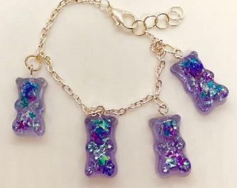 Gummy Bear Glitter Bracelet