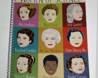 9 Women of Science Notebook
