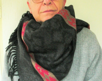mens winter -Aztec  Scarf-  fathers day gift Mens Scarf - Tribal Scarf  dad  father GrandFather Gift   Winter  fashion  Winter Accessories