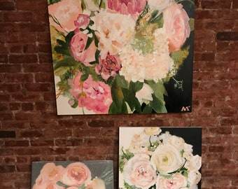 24x30 Custom Bouquet Painting