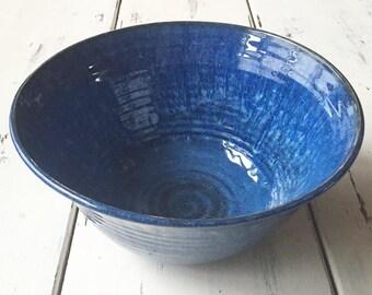 Large Ceramic Serving Bowl, Unique Housewarming Gift, Pottery Serving Bowl