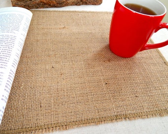 Burlap Placemats, Burlap Place Mats,  Holiday Burlap Place Mat, Holiday Decor,  Rustic Place Mat, Table Decor, Hessian Place Mats