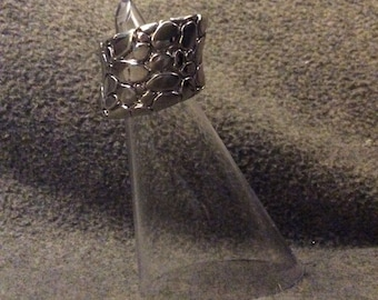 Finely Made Sterling Silver Wearable Sculpture Ring