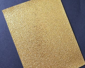 GOLD NUGGET faux leather sheet,8x11 faux leather,fake leather,faux leather,gold faux leather,vegan leather,faux leather fabric