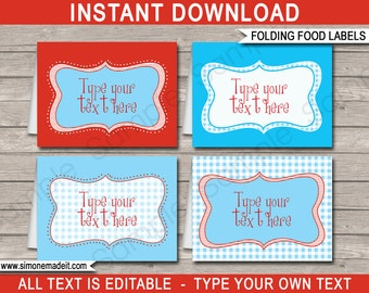 Wizard of Oz Food Labels - Buffet Tags - Tent Cards - Party Decorations - INSTANT DOWNLOAD with EDITABLE text - you personalize at home