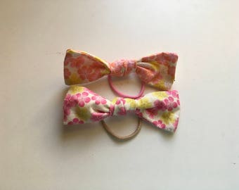 Tropical floral hair bow duo (set of two)