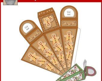 Gingerbread Icicle Treat Box Printable