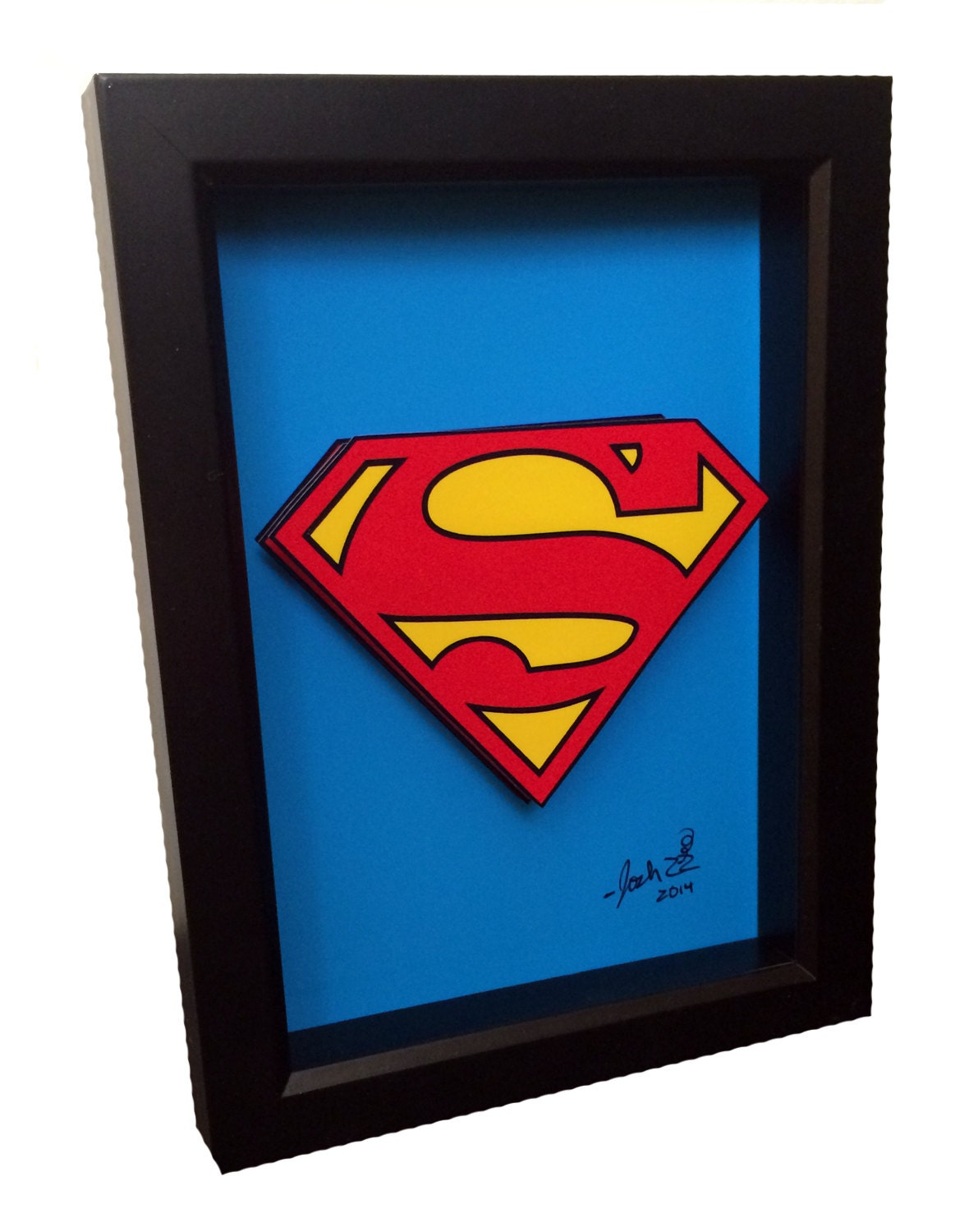 Superman symbol 3d pop art comic book artwork man of steel zoom jeuxipadfo Image collections