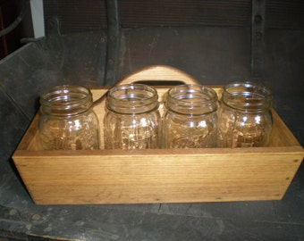 Wood Tote Tray