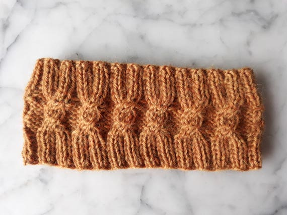 Knit headband in luxury alpaca yarn. Made in Ireland. Cable knit headband. Aran cable gift. Gift for her. Gift for teen. Knit hairband.