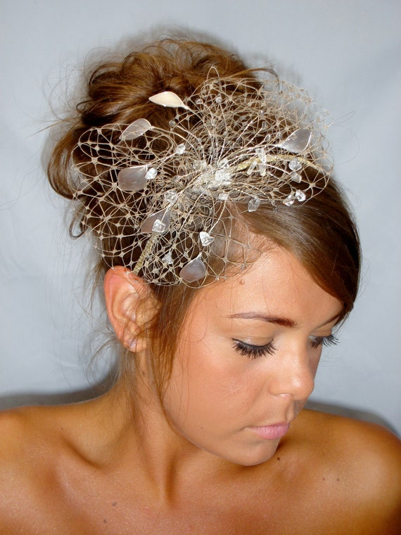 Gold fascinator mother of the bride Summer wedding wedding