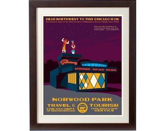 Norwood Park (Chicago Neighborhood) WPA-Inspired Poster