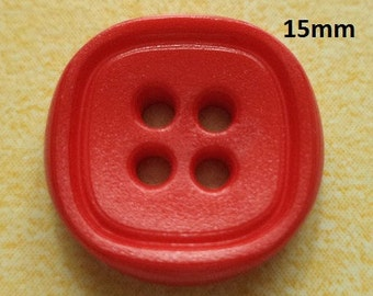 11 Buttons Red 15 mm (31) button
