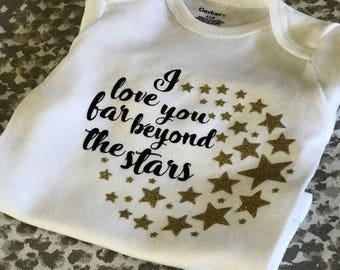I love you stars onesie