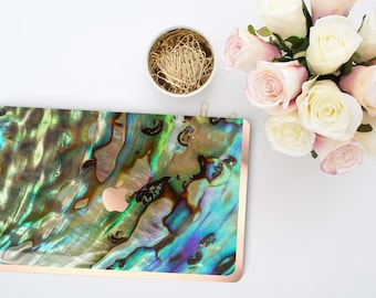 Macbook Pro 13 Case Macbook Air Case Laptop Case Macbook Case . Abalone Shell Rose Gold Chrome . Hard Case         - Platinum Edition