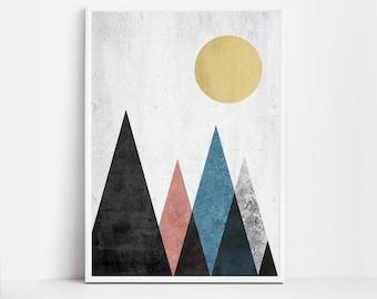 Geometric Prints Geometric Art Geometric Wall Art Prints Modern Prints Geometric Decor