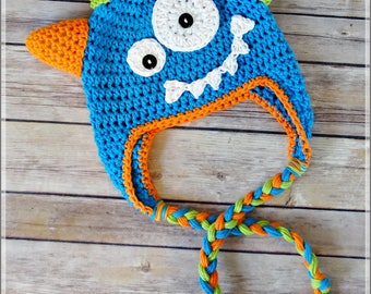CROCHET PATTERN Monster Hat Cute for Boys or Girls - Sizes Newborn to Adult - PDF File - Photo Tutorial - Pattern No. 78 by AngelsChest