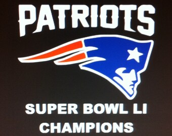 New England Patriots Super Bowl LI Champions vinyl decal