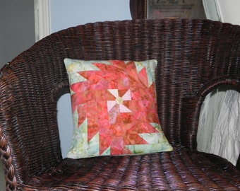 Sunrise Pinwheel Pillow Cover