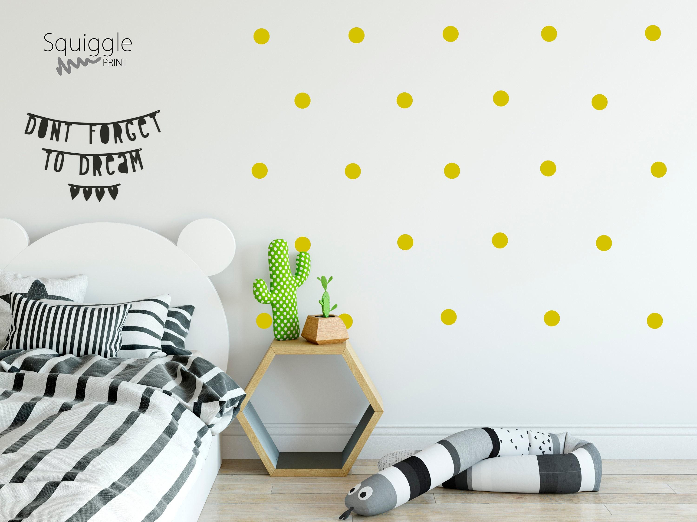 Polka dot vinyl wall stickers