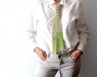 Green Tie  Color Block