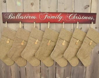 Custom Stocking Display Sign - Stocking Hanger - Christmas Stocking Holder - Custom Christmas - Christmas Decor - Christmas Gift -BornOnBonn