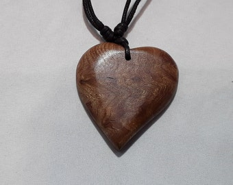 Wooden pendant etsy wych elm pendantwooden pendantwooden jewelary boho jewellaryheart pendant loveheart aloadofball Image collections