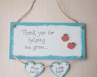 Teacher thank you gift plaque end of term
