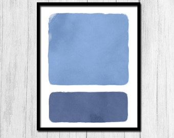 Abstract Art Printable Minimalist Art Digital Download Abstract Print Blue Print Blue Printable Abstract Printable Minimalist Printable Art