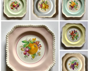 "Set Of 6 Johnson Brothers 8"" Fruit Plates"