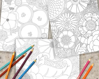 Full Bloom Coloring Pages