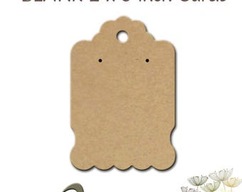 Blank Cards, Earring Cards, Jewelry Display Cards, 60 Cards, Display, Necklace Cards, Earring Cards