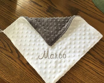 Mini minky blankets / Lovies for baby / Mini blankie / Personalized Blankets / Baby gifts / Baby Shower items /Baby Items / Handmade Blanket