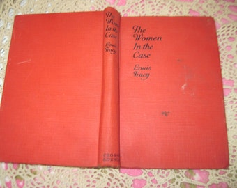 The women in the case Louis Tracy 1928, Vintage Book, Old Book, Antique Book, Vintage Home Decor,   :)s