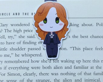 Clary - Magnetic bookmark - Shadowhunters | book lover gifts, demons, wizard, bookmark, bookish, bookmarks, mortal instruments