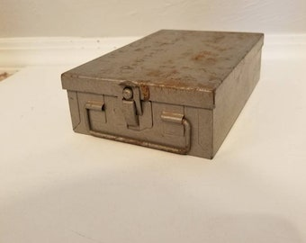 Vintage Metal Slide Box