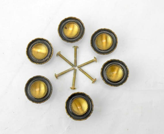 Vintage Cabinet Knobs Vintage Cabinet Pulls Brass Cabinet Handle Furniture  Pulls Ajax Cabinet Pulls Architectural Salvage Drawer Pulls From ...